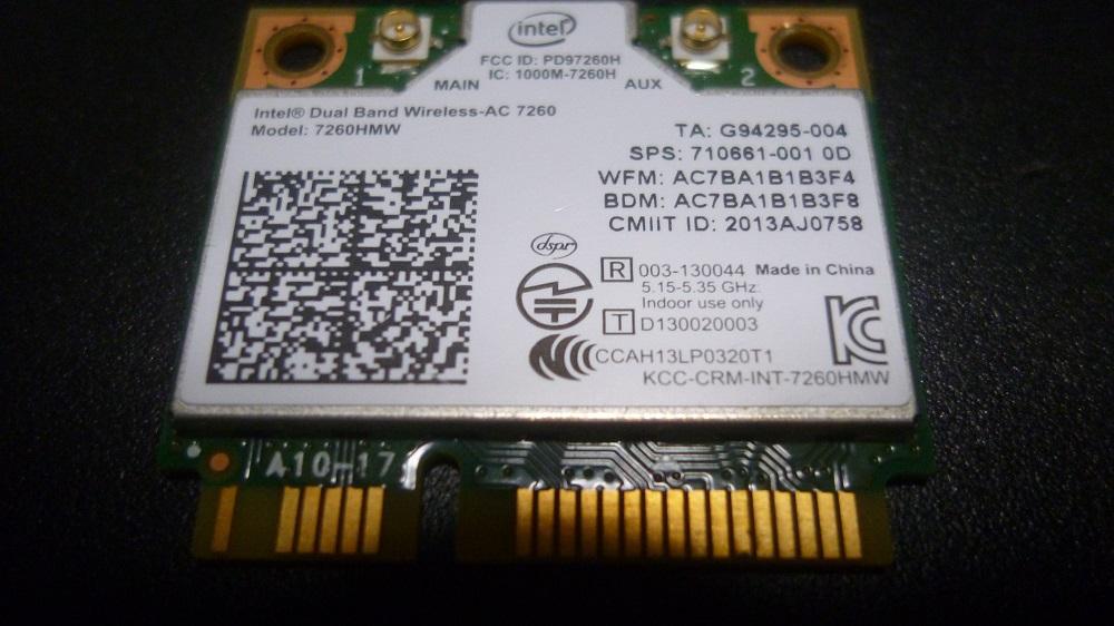 HP純正 Intel AC-7260